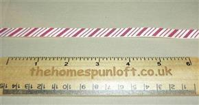 1 yd Candy Cane Striped Holiday Christmas Ribbon