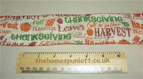 1 yd Wide Wired Thanksgiving Autumn Ribbon