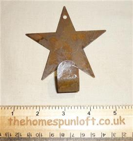 10cm Rusty Tin Primitive Star Hook Hanger