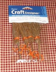 Pack of 4 Mini Witches Brooms Halloween Autumn