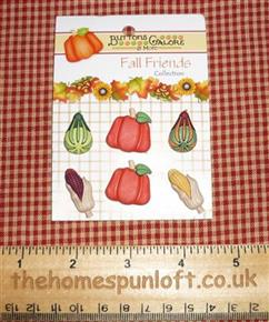 Autumn Bounty Fall Friends Harvest Button Pack