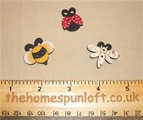 Beautiful Bugs Wooden Sew Thru Button Pack