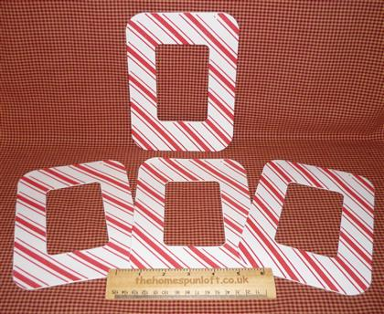 Christmas Candy Cane Stripe Foam Frame with Magnet