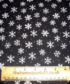 FQ Skaters Village Winter FLANNEL fabric
