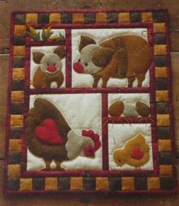 Ham and Eggs Quilt Kit by Rachel's of Greenfield