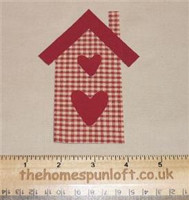 IRON ON Homespun House Fabric Die Cut