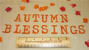 "IRON ON Letters ""AUTUMN BLESSINGS"" Die Cuts"