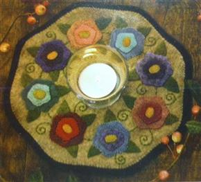 Little Stitchies Flowers Candle Mat Pattern