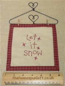 Primitive Christmas Let it Snow Mini Quilt