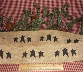 Primitive Country Star Wired Hessian Ribbon