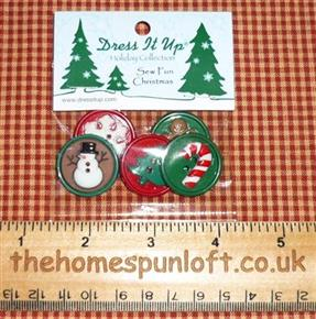 Sew Fun Christmas Seasonal Button Pack