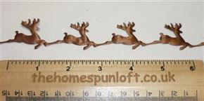 1 yard Holiday Christmas Santa's Reindeer Ribbon