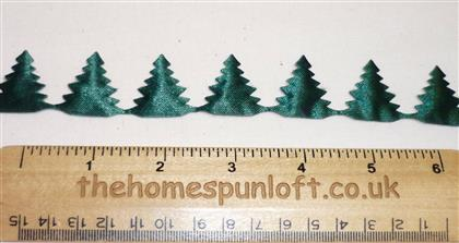 1 yard Holiday Evergreen Christmas Fir Tree Ribbon