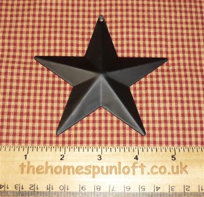 10cm Black Tin Primitive Barn Star