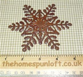 10cm Primitive Rusty Tin Christmas Snowflake