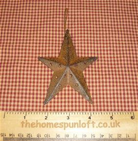 10cm Rusty Tin Primitive Barn Star