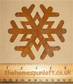 10cm Rusty Tin Primitive Snowflake