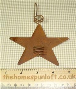 10cm Rusty Tin Primitive Star Candle Holder Decor