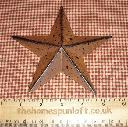 14cm Rusty Tin and Black Primitive Barn Star