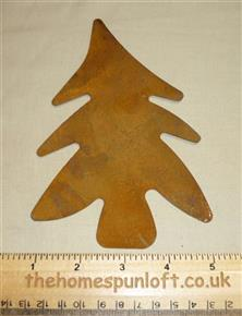 17cm Large Rusty Tin Primitive Christmas Tree