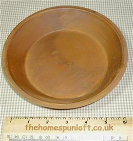 18cm Primitive Rusty Tin Pan Dish