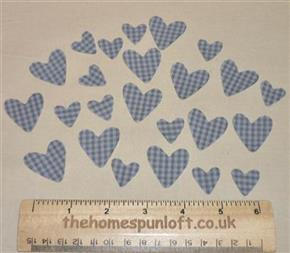 24 IRON ON Primitive Homespun Heart Die Cuts