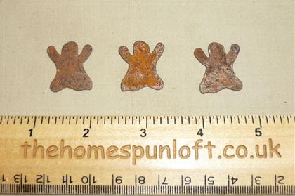 2.5cm Rusty Tin Primitive Halloween Ghost