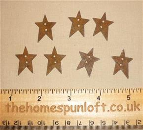 2.5cm Rusty Tin Primitive Star Button