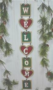 "27"" Christmas 'Welcome' Hanging Decoration"