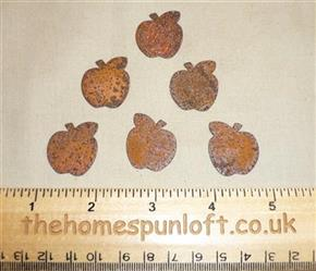 2cm Rusty Tin Primitive Mini Apple Shape