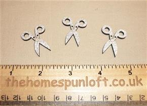 3 Glittery Sewing Scissors - Wooden Button Pack