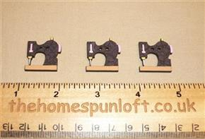 3 Sewing Machines - Wooden Button Pack