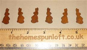 3cm Cute Rusty Tin Primitive Easter Bunny