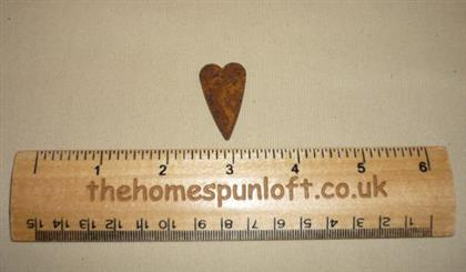 3cm Rusty Tin Primitive Heart