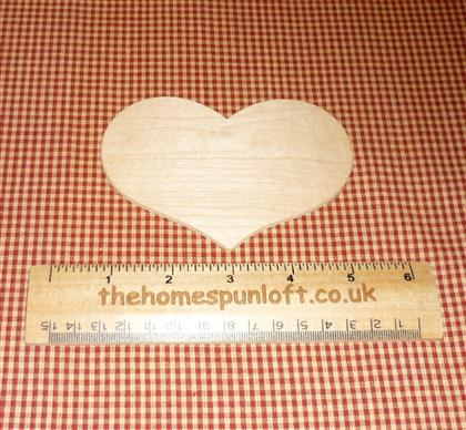 "4 1/2"" Country Heart wooden cut out"