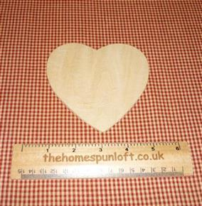 "4 1/2"" Heart Wooden Cut Out"