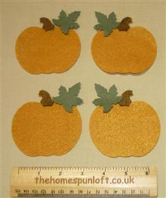 4 Halloween Harvest Pumpkin FELT Appliqué Die Cuts