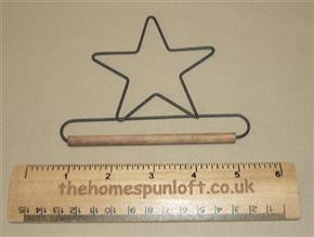 "4"" Star Wire Quilt Hanger With Wooden Dowel"