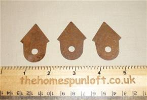 4.5cm Rusty Tin Primitive Birdhouse