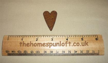 4cm Rusty Tin Primitive Heart