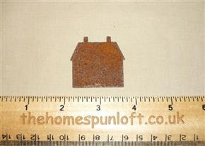 4cm Rusty Tin Primitive House