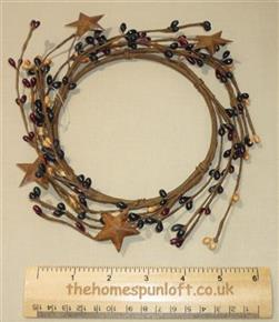 "5"" Pip Berry Candle Ring Mixed Colours Rusty Stars"