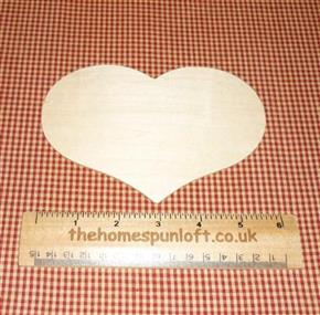 "6"" Country Heart Wooden Cut Out"