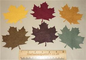 6 Die Cut Felt Maple Leaves Autumn Halloween