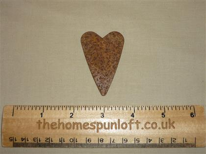 6cm Rusty Tin Primitive Heart