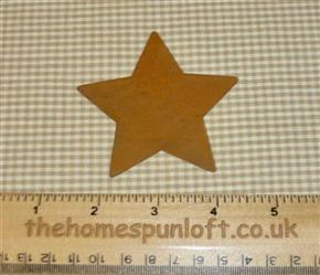 7.5cm Rusty Tin Primitive Flat Star