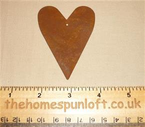 7.5cm Rusty Tin Primitive Heart