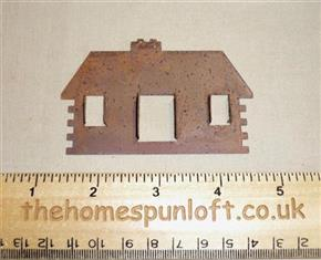 8.5cm Rusty Tin Primitive Log Cabin