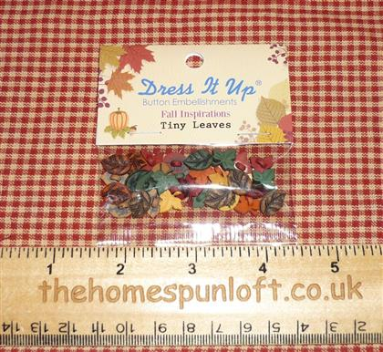 Autumn Fall Harvest Tiny Leaves Button Pack