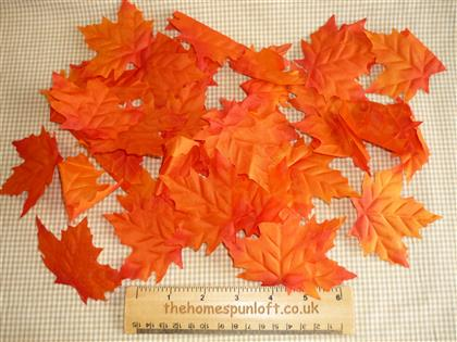 Bag of 40 Autumn Maple Decorative Leaves